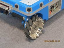 Second-system development easily moved Electric Aluminum omni wheel robot chassis