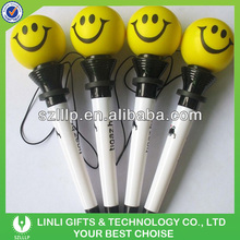 Smile Face Plastic Bounce Pen With Lanyard