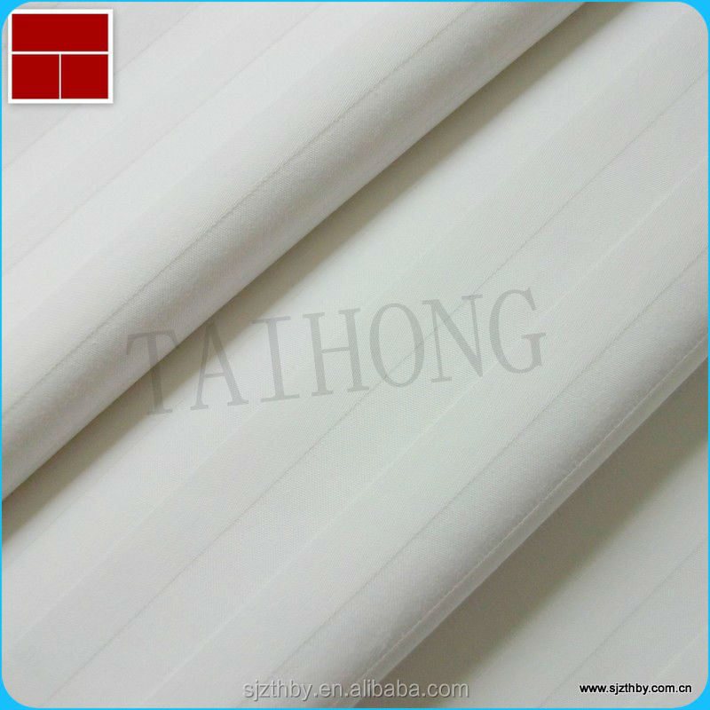 40*40 110*90white/ red/ printed cotton satin stripe fabric for bed sheet
