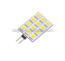 Best selling high quality spot feston led mini dome warning interior roof adjustable all cars DC g4 16smd 5050 12v-24v*10