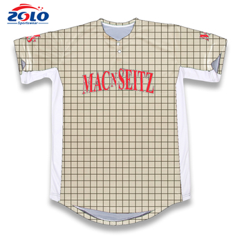 2017 New design best quality sports wear team sublimation blank softball jerseys