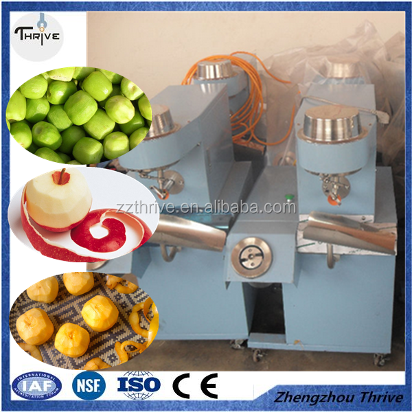 Factory price economic automatic round fruit apple, pear, persimmon peeling and kernel removing machine