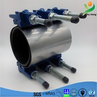 ZR Ductile iron Drainage pipe coupling pvc pipe with steel stainless heavy duty pipe clamp