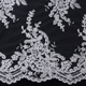 Free sample embroidered 3D French lace fabric white bridal chantilly lace for wedding dress