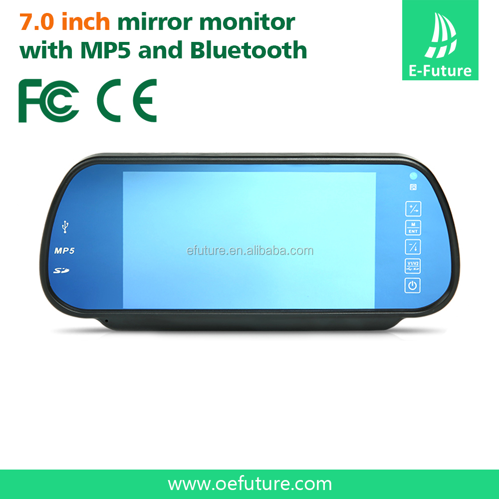 7inch rearview mirror monitor 2 video