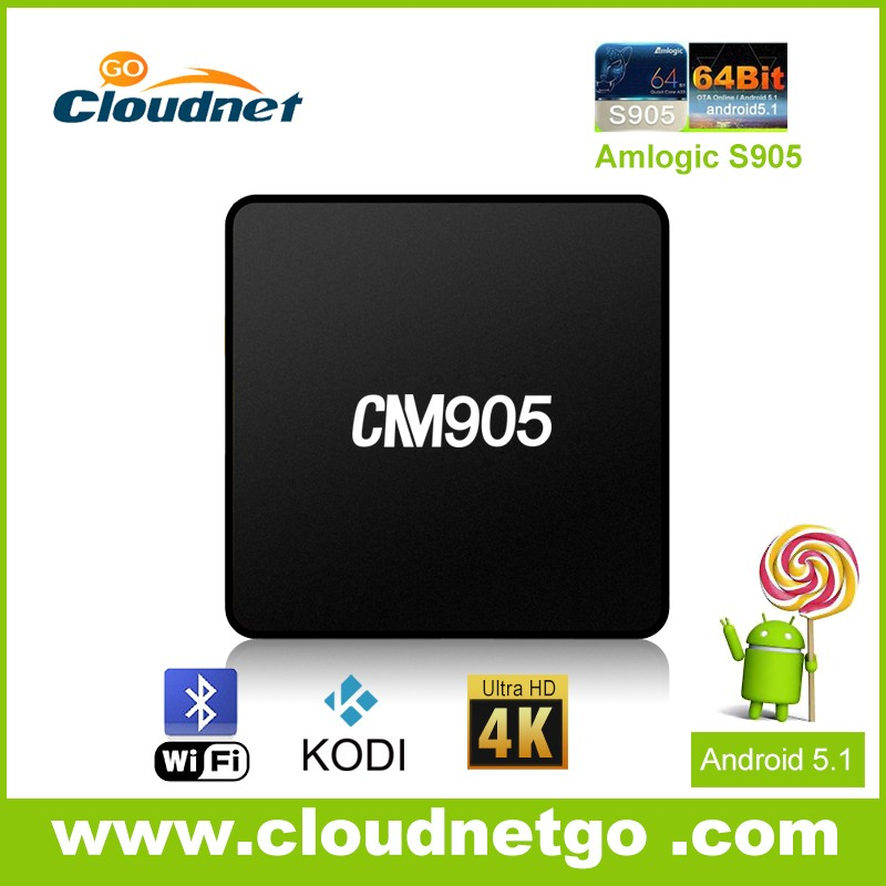 2016 smart S905 Quad-core 64 bit Android TV Box set top TV