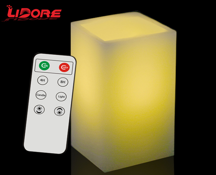 LIDORE new products decorative remote control color flameless led wax candle