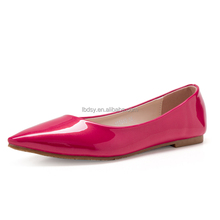 European style solid color spanish leather shoes for women