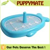 plastic pet toilet, dog toilet with pillar in blue / pink/green color