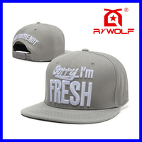 RZWOLF fancy embroidery 3d letters custom made snapback hats