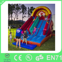 2015 Hot Big Top Circus Inflatable Slide,Commercial Inflatable Wet Dry Slide