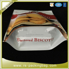 Aluminum foil stand up bopp laminated bag for bread packing