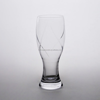 Polished High Quality Handmade Glassware Hand cut Beer Glass