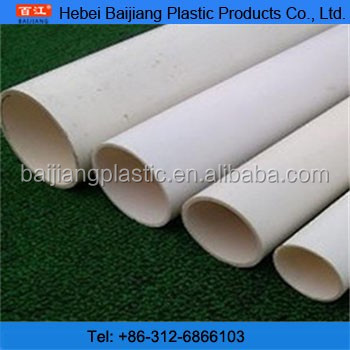 BAIJIANG Flexible SCH80 Outdoor PVC Pipe ClassesRecycle for Water Supply and Drainage