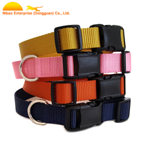 Plain nylon dog collar collar and simple solid color leash