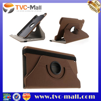 Brown for LG G Pad 8.3 V500 360 Degree Rotary Cloth Leather Shell Cover w/ Stand