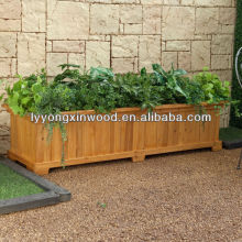 wood plastic composite wpc flower box in garden