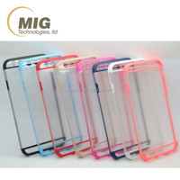Transparent pc hard phone case for samsung galaxy s6 edge plus & mobile phone tpu case for iphone note 5 4 3 for s5 s4 s3
