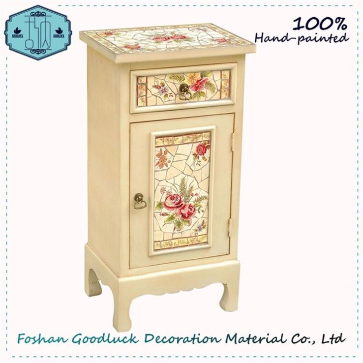 Hand Painted Impeccable Cabinet Antique European Stylish Poland Furniture