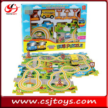new products 2017 Electric Orbital Puzzle Cartoon bus puzzle plastic puzzle