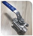 CF8 Stainless Steel Full Port 3Piece Butt-Weld Ball Valve with Locking Device