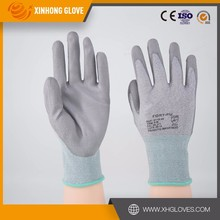 Xinhong hot sale safety green guard PU glove