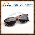 Wholesale stock polarized bamboo and wooden sunglass