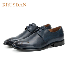 High quality fashion formal Italian style genuine leather men's dress shoes