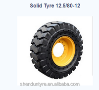 top quality solid tyre 12.5/80-12 ,6.50-10 made in China