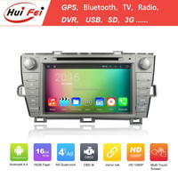 Quad Core Android 4.4 Capacitive Touch Screen 1024*600 Resolution In Car Entertainment For Toyota Prius Radio