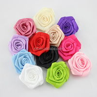 Wholesale handmade silk satin ribbon flowers from factory