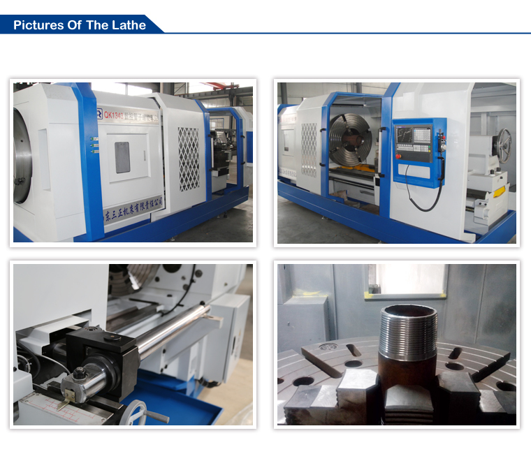 QK1319 Oil Country CNC Drilling Machine Price Pipe Screw Thread Lathe For Sale With Electrical Mechanical Tools Names
