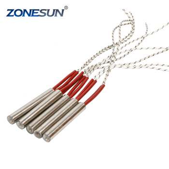 ZONESUN free shipping 5pcs diameter 6.8.10.12mm Heating Element Mould Wired Cartridge Heater AC 220V 300W Electricity Generation