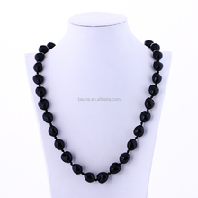 32 black Kukui nuts beaded necklace handmade necklace fashion jewelry necklace