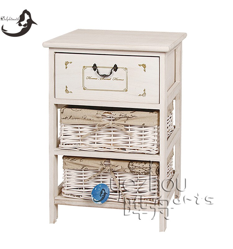 Fashion bedroom wooden bedside table