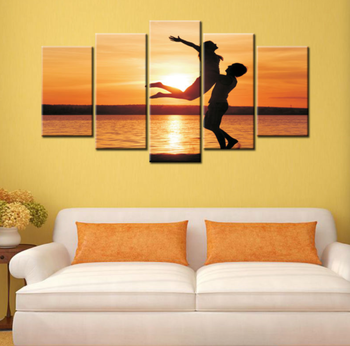 Water-Proof Lovely Sunset Custom Digital Inkjet Art Painting Canvas Print
