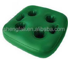 Good Price inflatable cup holder pvc cool floating drink holders for sale