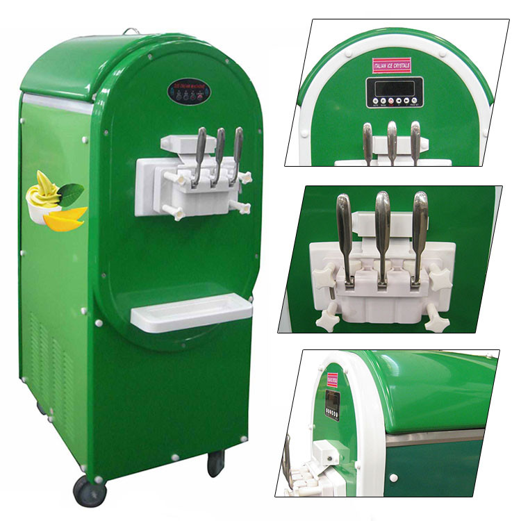 Stable quality Europe style 220V 50Hz commercial ice cream machine with OEM colors
