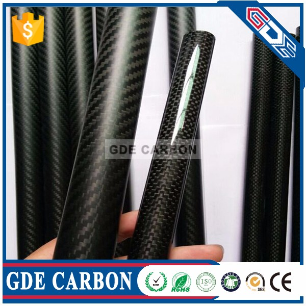 1.5mm thickness Carbon Fiber Tube 3K Twill 16mm 14mm 12mm Diameter 1M length