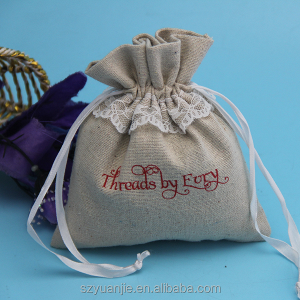 jute material large favour bags for weddings