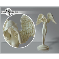 Home Decoration Ornaments Resin White Little Angels Model For Sale