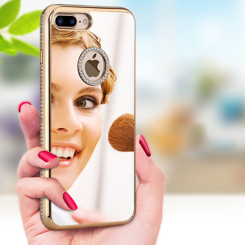 New Hot Bright Light Mirror Cell Phone Case for <strong>iPhone</strong> 7 Plus Case