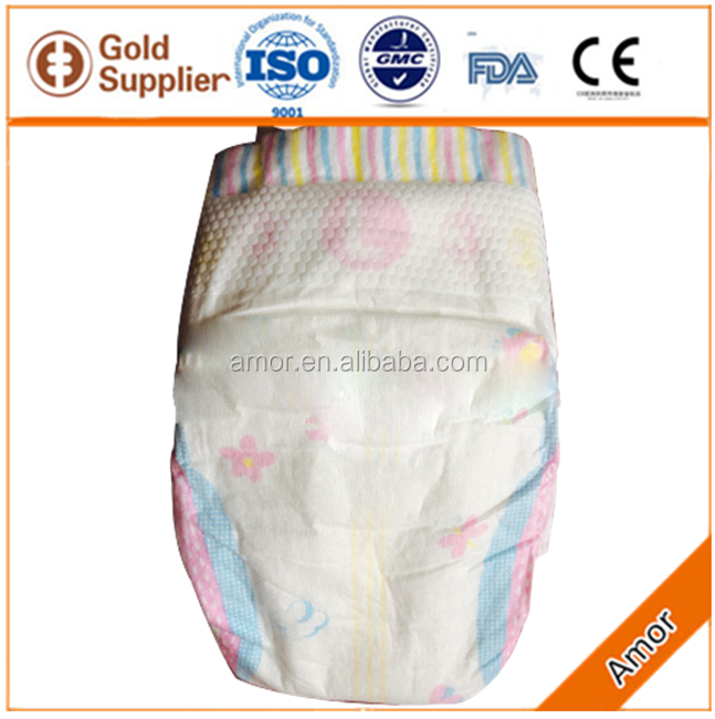 Breathable film and magic tape disposable sleepy baby diapers in China