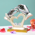 Modern artificial wedding decoration & gift design romantic polyresin craft