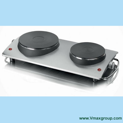 Stainless Steel Electric Solid Hot Plate Double Stoves