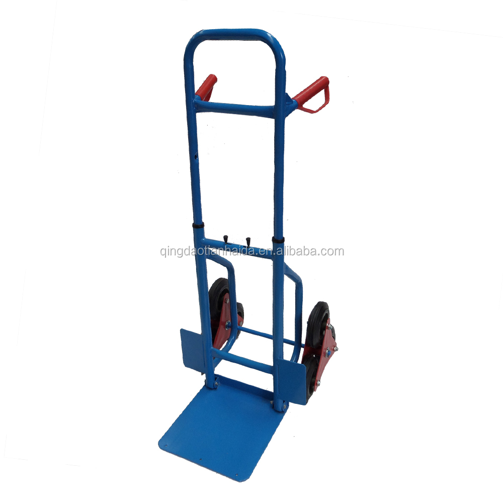2016 model 6 wheel can climbing stair hand trolley