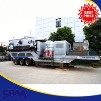 Portable stone type crusher plant for slag sponge iron ore in Nigeria