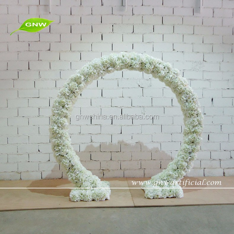 GNW FLA1603004-C Wholesale with cherry blossom and orchids flower handmade wedding arch