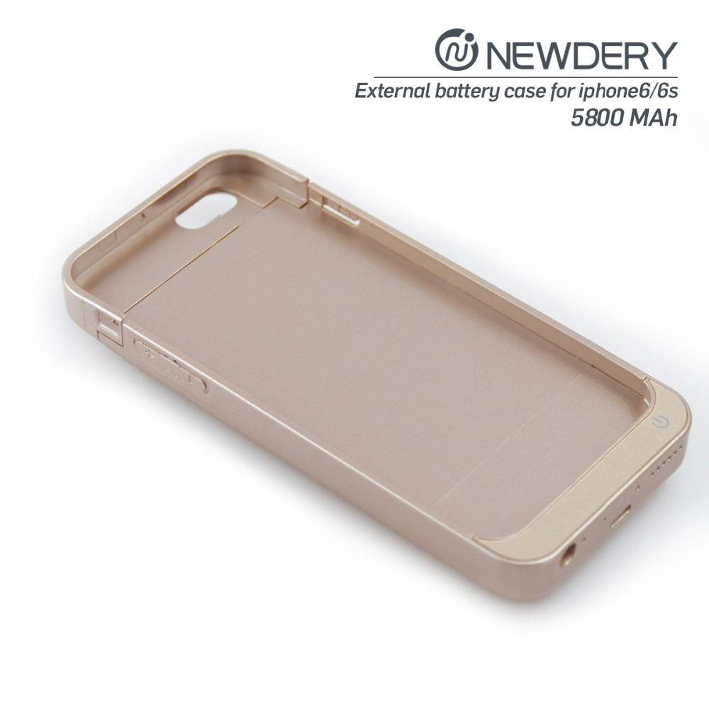 new products 2016 5800mah external battery case power bank cover for iphone 6/6s smartphone