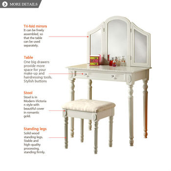 french dressing table,fashion style make up table